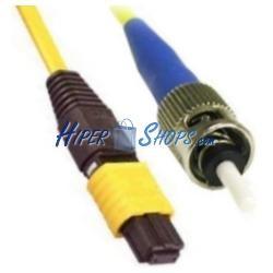 Cable de fibra óptica ST/APC a ST/APC monomodo duplex 9/125 de 2 m