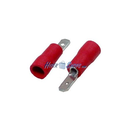 Terminal Faston Macho Rojo (2.8mm) 100 Pack
