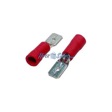 Terminal Faston Macho Rojo (4.8mm) 100 Pack