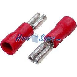 Terminal Faston Hembra Rojo (2.8mm) 100 Pack