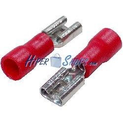 Terminal Faston Hembra Rojo (4.8mm) 100 Pack