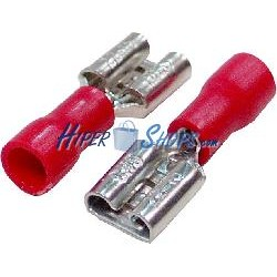 Terminal Faston Hembra Rojo (6.3mm) 100 Pack