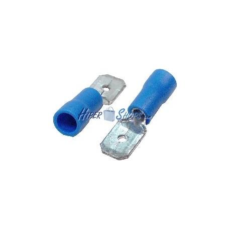 Terminal Faston Macho Azul (6.3mm) 100 Pack