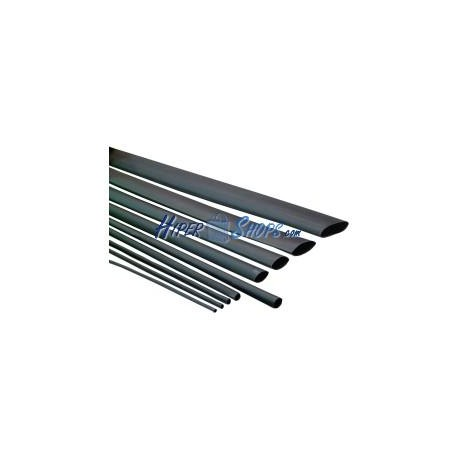 Tubo termoretráctil negro de 6,4mm en bobina de 3m