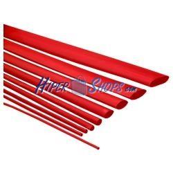 Tubo termoretráctil rojo de 1,6mm en bobina de 3m