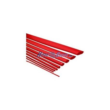 Tubo termoretráctil rojo de 2,4mm en bobina de 3m