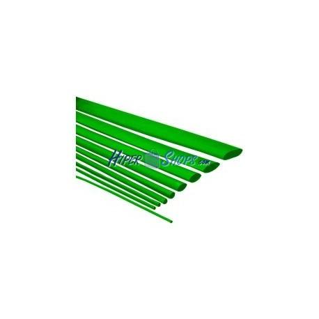 Tubo termoretráctil verde de 6,4mm en bobina de 3m