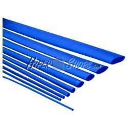Tubo termoretráctil azul de 25,4mm en bobina de 3m