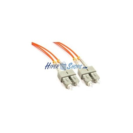 Cable de fibra óptica SC a SC multimodo duplex 62.5/125 de 5 m