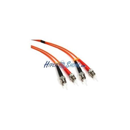 Cable de fibra óptica ST a ST multimodo duplex 62.5/125 de 15 m