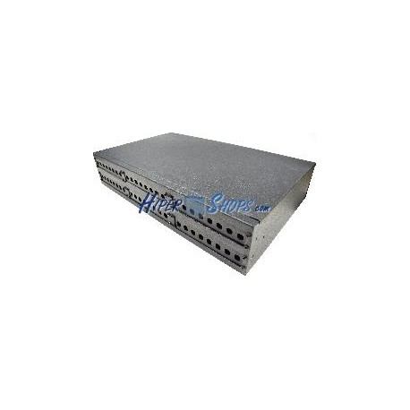 Patch Panel de fibra óptica 2U negro de 48 ST