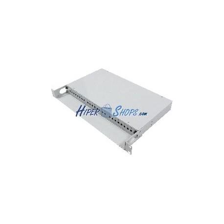 Patch panel de fibra óptica 1U beige de 24 ST