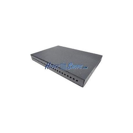 Patch Panel de fibra óptica 1U negro extraible de 24 FC