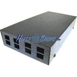 Caja de terminales de fibra óptica metálica negro de 8 SC