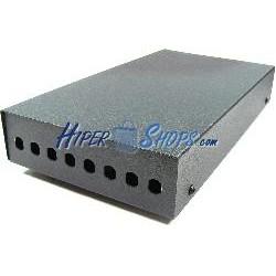 Caja de terminales de fibra óptica metálica negro de 8 ST