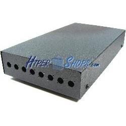 Caja de terminales de fibra óptica metálica negro de 8 FC