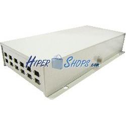 Caja de terminales de fibra óptica metálica beige de 12 SC
