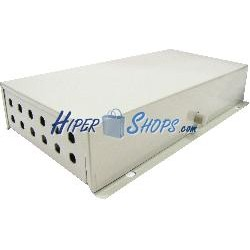 Caja de terminales de fibra óptica metálica beige de 12 ST