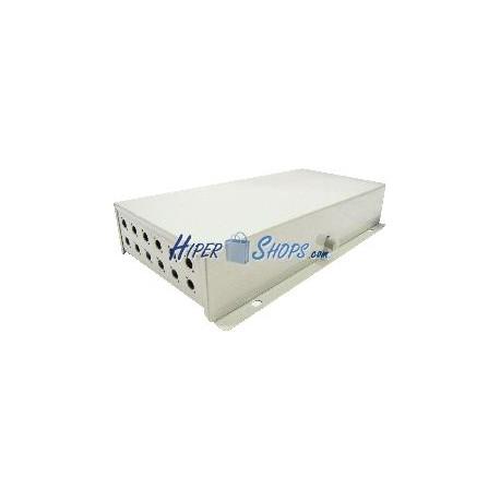 Caja de terminales de fibra óptica metálica beige de 12 FC