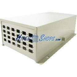 Caja de terminales de fibra óptica metálica beige de 24 SC