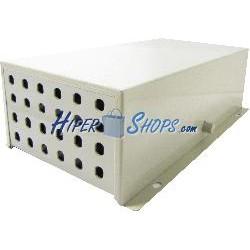 Caja de terminales de fibra óptica metálica beige de 24 ST