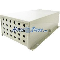Caja de terminales de fibra óptica metálica beige de 24 FC