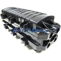 Torpedo de fibra óptica horizontal de 43x19x17 cm