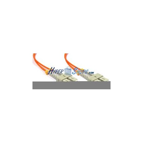 Cable de fibra óptica SC a SC multimodo duplex 50/125 de 2 m
