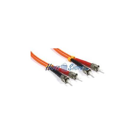 Cable de fibra óptica ST a ST multimodo duplex 50/125 de 3 m