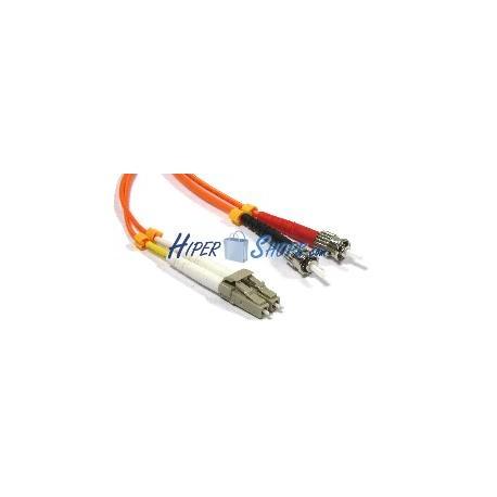 Cable de fibra óptica LC a ST multimodo duplex 50/125 de 15 m