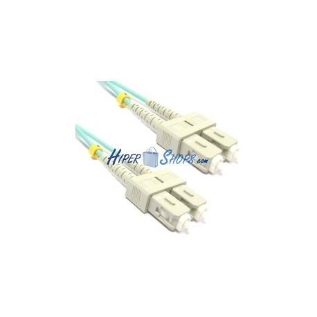 Cable OM3 de fibra óptica SC a SC multimodo duplex 50/125 de 10m