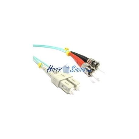 Cable OM3 de fibra óptica ST a SC multimodo duplex 50/125 de 3m