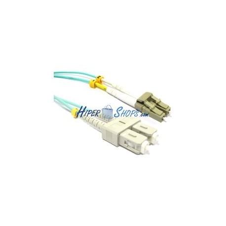 Cable OM3 de fibra óptica LC a SC multimodo duplex 50/125 de 2m