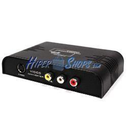 Conversor HDMI a audio y vídeo analógico RCA