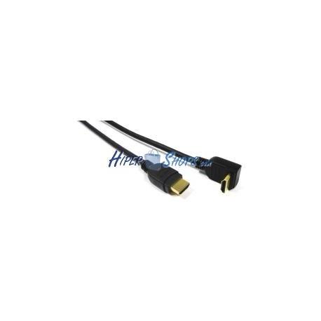 Cable HDMI de tipo HDMI-A macho a HDMI-A macho angulo izquierda de 1m