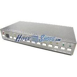Conversor y selector RCA RGB VGA HDMI y S-Video a HDMI (10 IN)