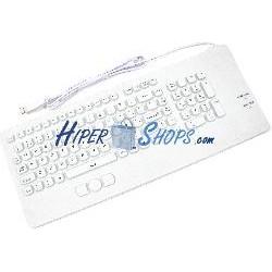 Teclado industrial USB de 102 teclas con ratón y blanco