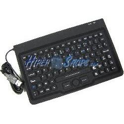 Teclado industrial USB de 85 teclas con ratón y negro