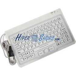 Teclado industrial USB de 85 teclas con ratón y blanco