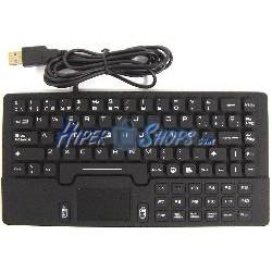 Teclado industrial USB de 87 teclas con mousepad y negro mini