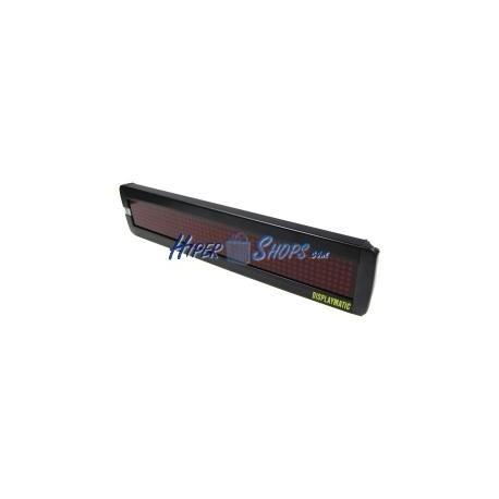 Rótulo electrónico de LEDs DisplayMatic de 50x7 DOT rojo