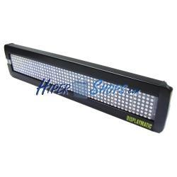 Rótulo electrónico de LEDs DisplayMatic de 50x7 DOT rojo y verde