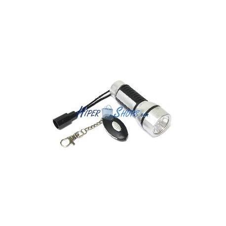 Linterna de 5 LED de alto brillo con linterna llavero