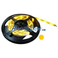 Tira de LEDs flexible 13 lm/led 30 led/m de 5m IP44 amarillo