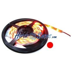 Tira de LEDs flexible 13 lm/led 60 led/m de 5m IP44 rojo