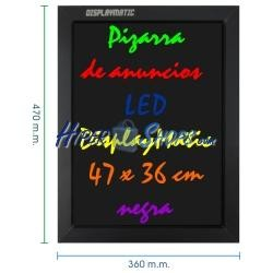 Pizarra de LED de DisplayMatic de 47 x 36 cm negra