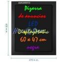 Pizarra de LED de DisplayMatic de 60 x 47 cm negra