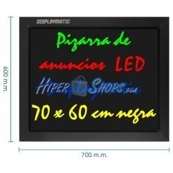 Pizarra de LED de DisplayMatic de 70 x 60 cm negra