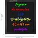 Pizarra de LED de DisplayMatic de 60 x 47 cm portafoto