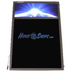 Pizarra de LED de DisplayMatic de 70 x 47 cm con anuncio de cabecera